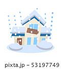 住宅 雪害 大雪のイラスト 53197749