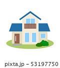 住宅 一戸建て 一軒家のイラスト 53197750