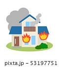 住宅 火災 ベクターのイラスト 53197751