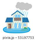 住宅 水害 ベクターのイラスト 53197753