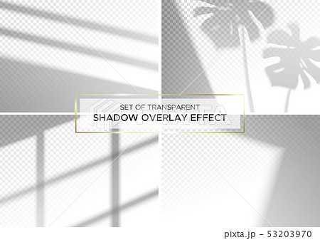 Set of transparent shadow overlay effects. 53203970