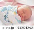 Sleeping newborn baby 53204292