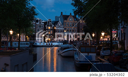 Romantic evening Amsterdam, Netherlands 53204302