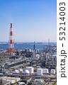 三重県 四日市 石油化学コンビナート 工場風景  俯瞰 53214003