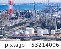 三重県 四日市 石油化学コンビナート 工場風景  俯瞰 53214006