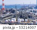 三重県 四日市 石油化学コンビナート 工場風景  俯瞰 53214007