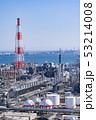三重県 四日市 石油化学コンビナート 工場風景  俯瞰 53214008