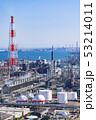 三重県 四日市 石油化学コンビナート 工場風景  俯瞰 53214011