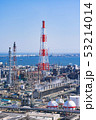 三重県 四日市 石油化学コンビナート 工場風景  俯瞰 53214014