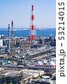 三重県 四日市 石油化学コンビナート 工場風景  俯瞰 53214015