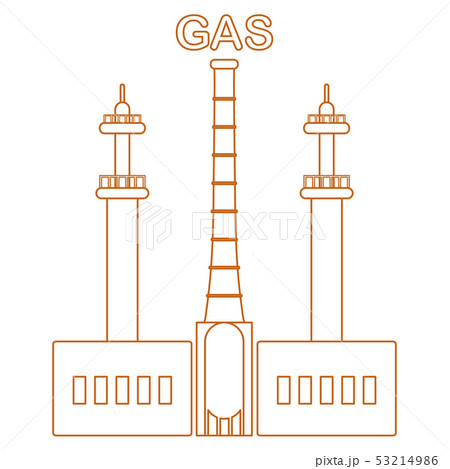 Gas processing plant Industrial theme. 53214986