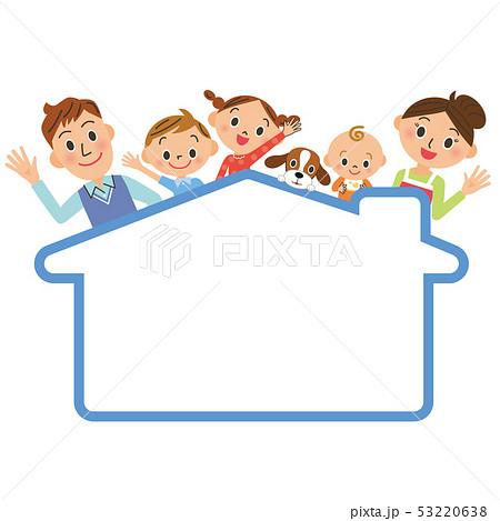 家のフレームと仲良し家族 53220638