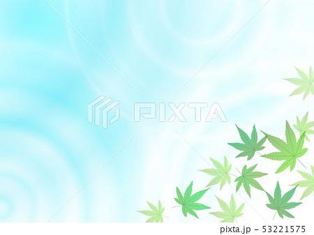 水紋グラデーションと紅葉 53221575