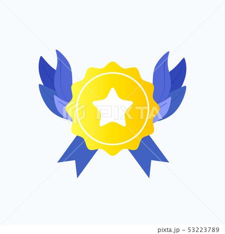 Gold medal or reward point. 53223789