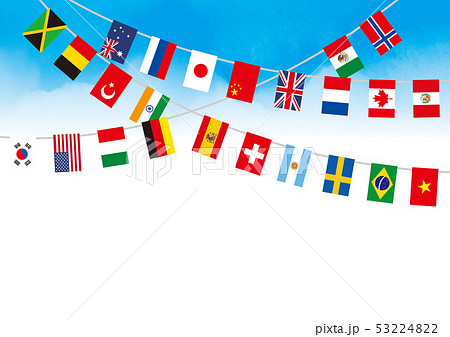 青空の世界国旗 53224822