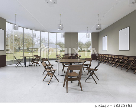 modern training room with brown furniture and 53225362