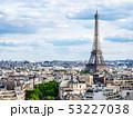 凱旋門から眺めるエッフェル塔とパリ市内 53227038