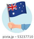 Australia flag in hand 53237710
