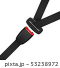 Vector 3d Realistic Blocked Passenger Seat Belt Clopeup Isolated on White Backgroud. Design Template 53238972