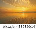 琵琶湖の朝焼け 53239014