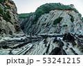 三浦半島毘沙門海岸岩礁の道の夜明け 53241215