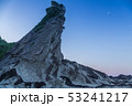 三浦半島毘沙門海岸岩礁の道の夜明け 53241217