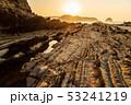 三浦半島毘沙門海岸岩礁の道の夜明け 53241219