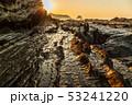 三浦半島毘沙門海岸岩礁の道の夜明け 53241220