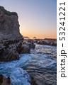 三浦半島毘沙門海岸岩礁の道の夜明け 53241221