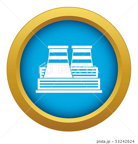 Power station icon blue vector isolated 53242624
