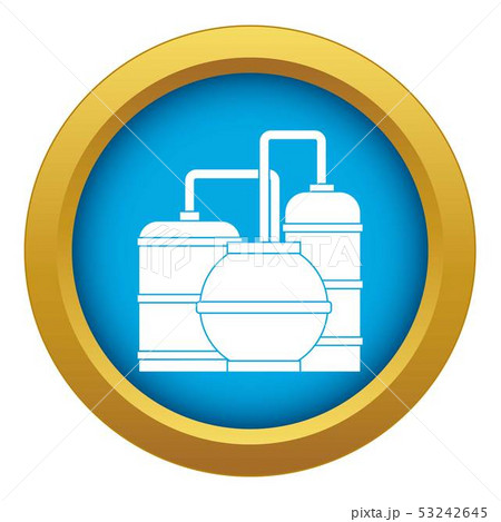 Gas storage tanks icon blue vector isolated 53242645