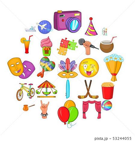 Children park icons set, cartoon style 53244055