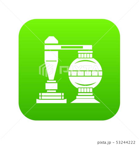 Chemical installation icon green vector 53244222