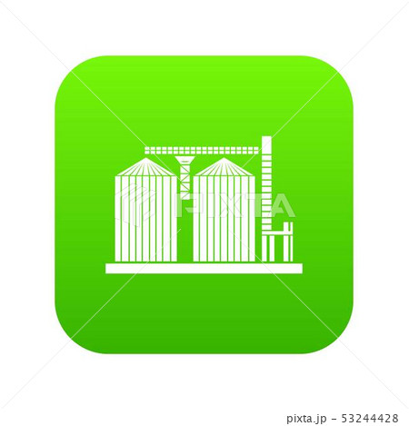 Tower plant icon green vector 53244428