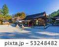 京都 春の上賀茂神社 拝殿   53248482