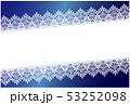 レース素材 ポストカード 背景 ブルー 53252098