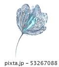 Watercolor Boho Romantic Tender indigo Design Element 53267088