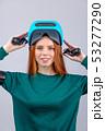 ヘッドセット VR 女性の写真 53277290