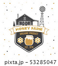 Honey farm badge. Vector. Concept for shirt, print, stamp or tee. Vintage typography design with 53285047