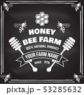 Honey farm badge. Vector. Concept for shirt, print, stamp or tee. Vintage typography design with bee 53285632