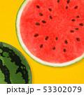 背景-夏-スイカ-オレンジ 53302079