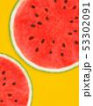 背景-夏-スイカ-オレンジ 53302091