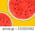 背景-夏-スイカ-オレンジ 53302092
