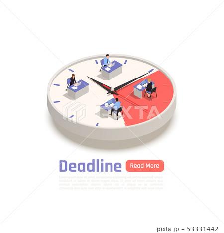 Deadline Isometric Business Concept 53331442