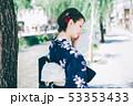 浴衣の女性と京都の街 53353433