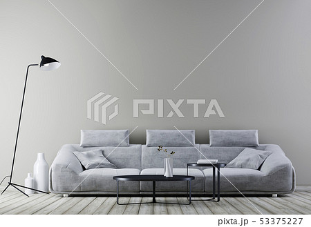 Modern vintage interior ,living room with empty 53375227