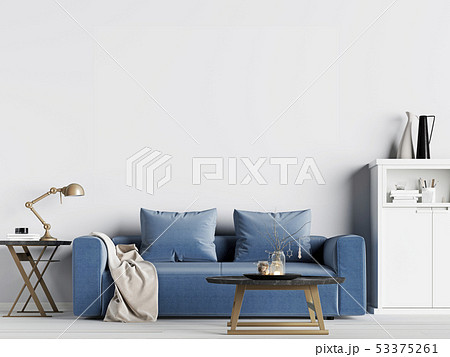 mock up empty wall in interior background with 53375261