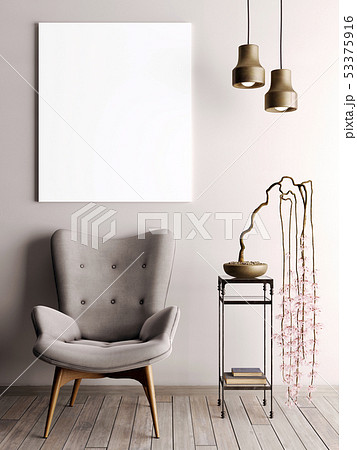 mock up poster in urban style interior with 53375916