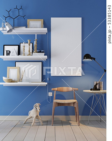 Poster on the wall and interior. 53385143