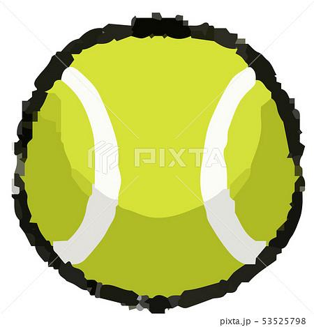 テニスボールのイラスト 53525798